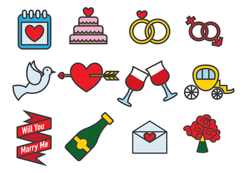 Marry Me Vector Icon Vector Pack - vector #388961 gratis