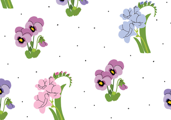 Delicate Pansy Pattern - Free vector #388981