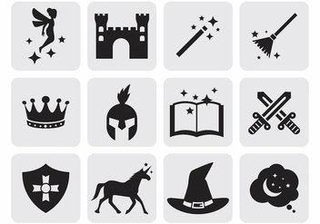 Free Fairy Tale Icons Vector - Free vector #389071