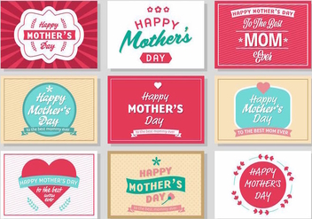 Free Mother's Day Vintage Poster Vector - Kostenloses vector #389091