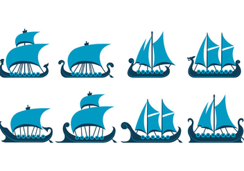Vector Of Viking Ship - vector gratuit #389131