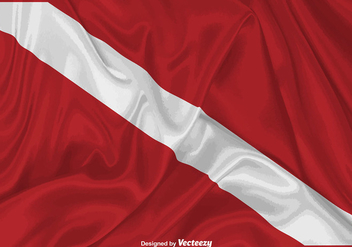 Vector Realistic Dive Flag Illustration - vector #389221 gratis