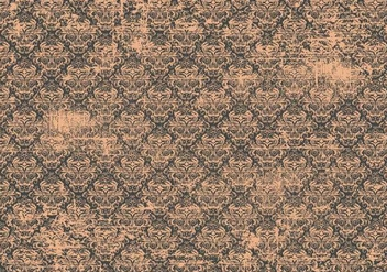 Old Vintage Damask Background - Kostenloses vector #389271