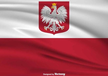 Polish Eagle Vector Flag - бесплатный vector #389541