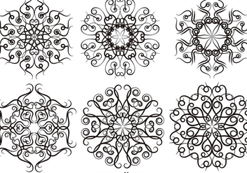 Set Of Scrollwork Vintage Elements - Vector - Kostenloses vector #389631