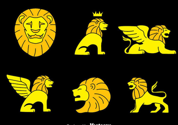 Lion Symbol Collection Vector - Free vector #389901