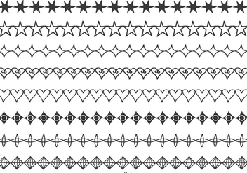 Hand Drawn Vector Borders - Free vector #389921