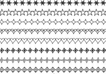 Hand Drawn Vector Borders - Kostenloses vector #389921