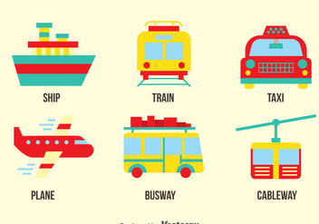 Transportation Vector Set - vector gratuit #390161
