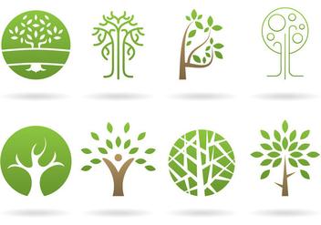 Tree Logos Vectors - Kostenloses vector #390321