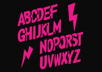 Free Vector Alphabet - Kostenloses vector #390371