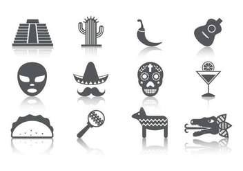 Free Mexico Icons Vector - Free vector #390401