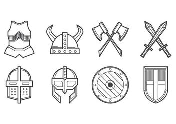 Free Medieval Armor Icon Vector - vector gratuit #390421