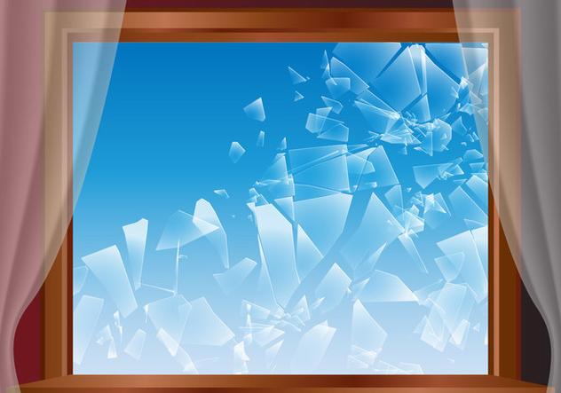 Broken Window Glass Vector - Free vector #390461