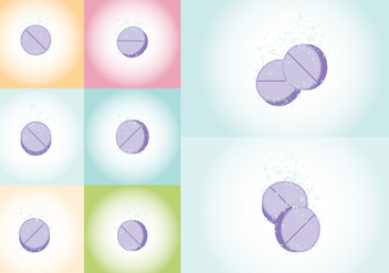 Effervescent Tablet Vectors - бесплатный vector #390561