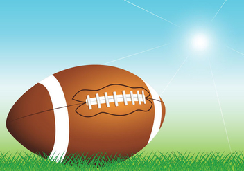 Rugby Ball Vector - Free vector #390611