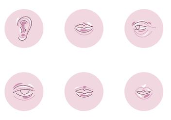 Facial Plastic Surgery Vectors - бесплатный vector #390651