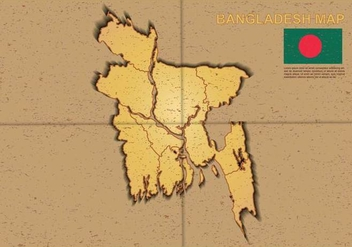 Free Bangladesh Map Illustration - Kostenloses vector #390741