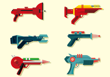 Laser Gun Vector Pack - Free vector #390751