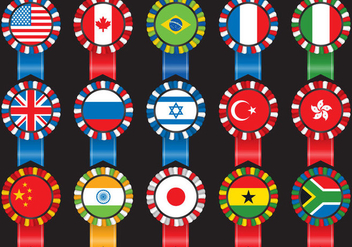 Flag Cockade - vector #390831 gratis