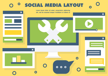 Social Media Layout Vector - бесплатный vector #390961