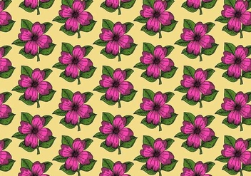 Pink Flower Pattern - vector gratuit #391091