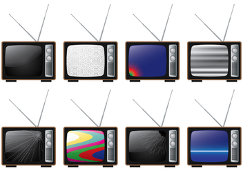 Broken Ananlog TV - vector gratuit #391121
