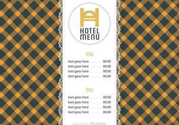 Free Hotel Menu Vector Template - Kostenloses vector #391301