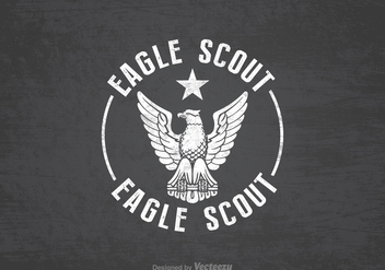 Free Eagle Scout Retro Vector Background - Free vector #391351