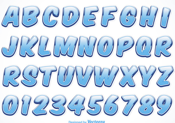 Free Vector Water Font - Free vector #391371