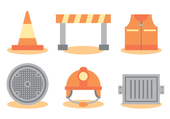 Construction Manhole Vector Set - vector gratuit #391461