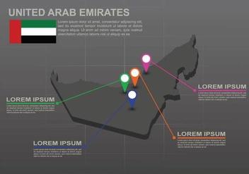Free UAE map Illustration - Free vector #391621