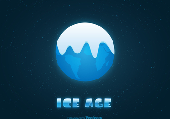 Free Ice Age Earth Vector Illustration - Kostenloses vector #391691