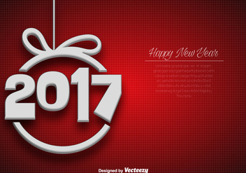 Abstract Elegant Background For 2017 New Year Celebration - vector #391761 gratis