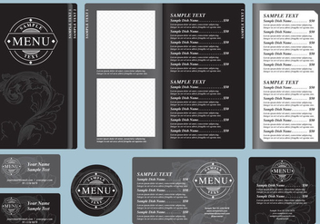 Black Menu Templates - Kostenloses vector #391771