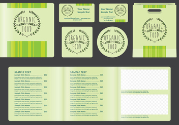 Square Organic Menu - Free vector #391781