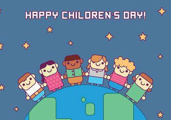 Children Around the World - vector gratuit #391881