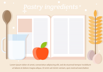 Free Pastry Ingredients Vector - бесплатный vector #391921