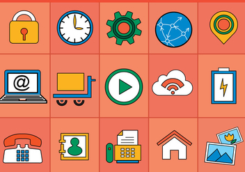 Flat Various Icons Vectors - Free vector #392051