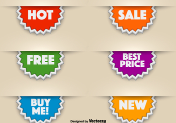 3d Vector Promotional Stickers - vector gratuit #392141