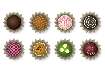 Chocolate Truffle Icons - vector gratuit #392211