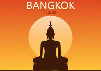 Free Retro Bangkok Vector Poster - Free vector #392241