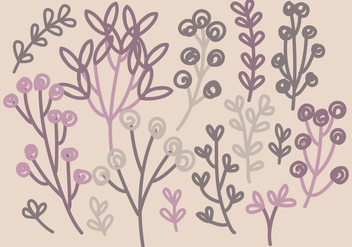 Vector Hand Drawn Branches - Free vector #392331