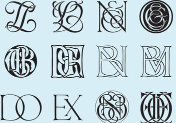 Classic Monograms - Free vector #392351