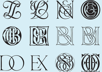 Classic Monograms - Kostenloses vector #392351