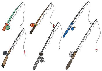Fishing Rod Vector - бесплатный vector #392391