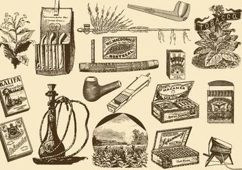 Vintage Tobacco Items - Kostenloses vector #392421