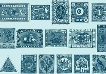 Vintage Stamps - Free vector #392481