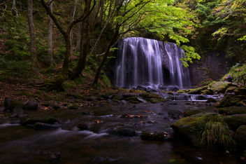 Waterfall in the rain - image #392501 gratis
