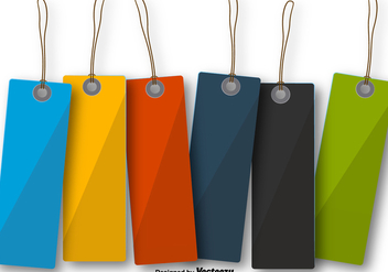 Colorful Blank Hanging Tag Labels - vector gratuit #392621